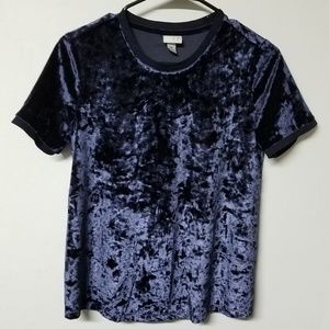 A New Day royal blue crushed velvet shirt XS